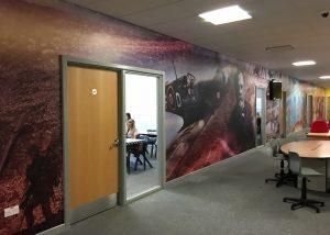 Academy corridor wall wrap