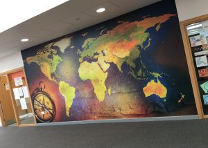Geography wall wrap