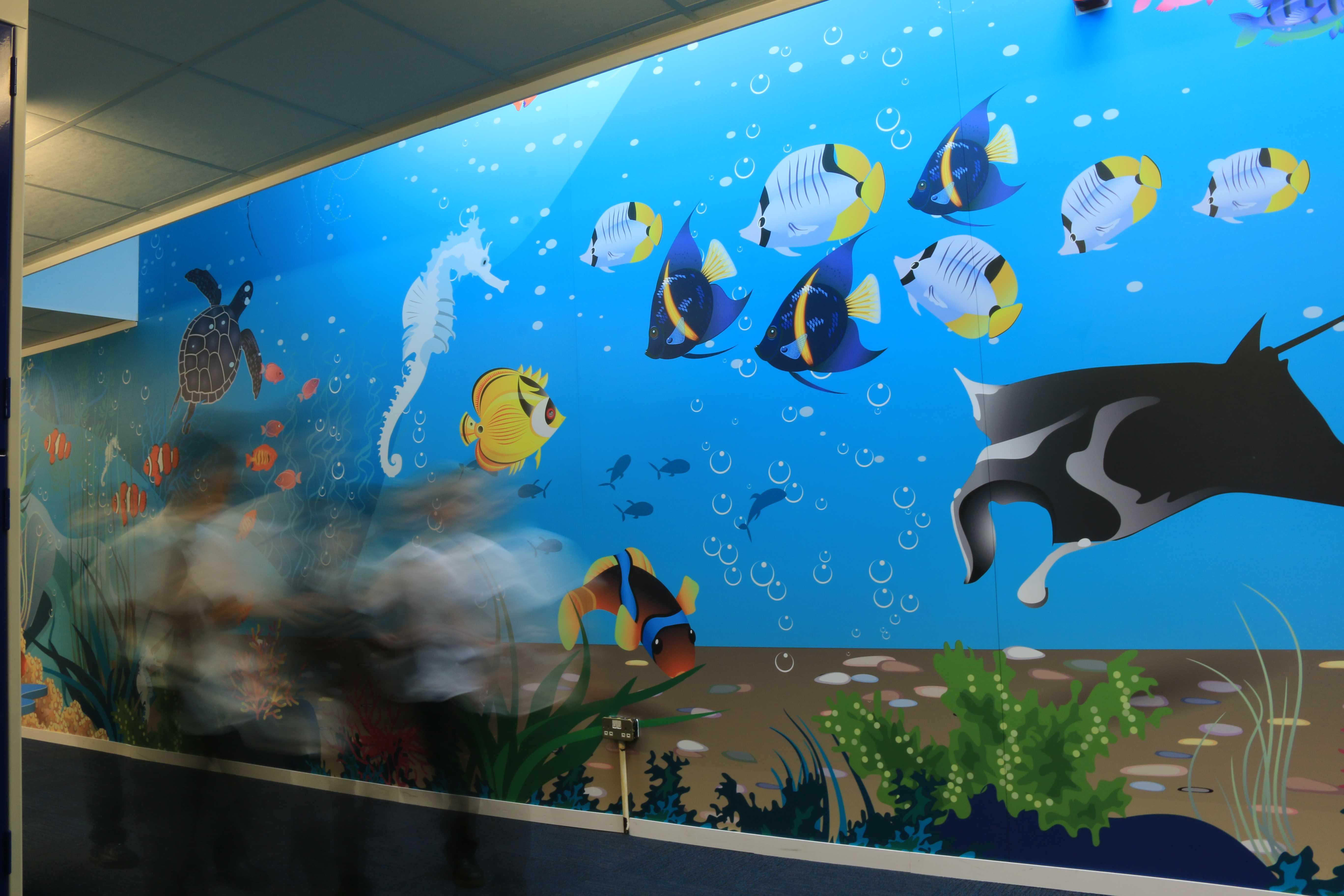 Nursery school wall wrap