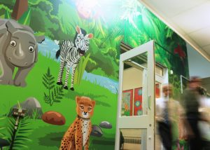 Primary school wall wrap
