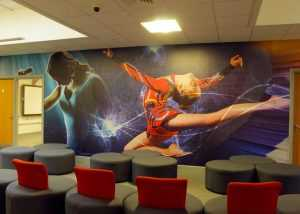 Reception wall wrap