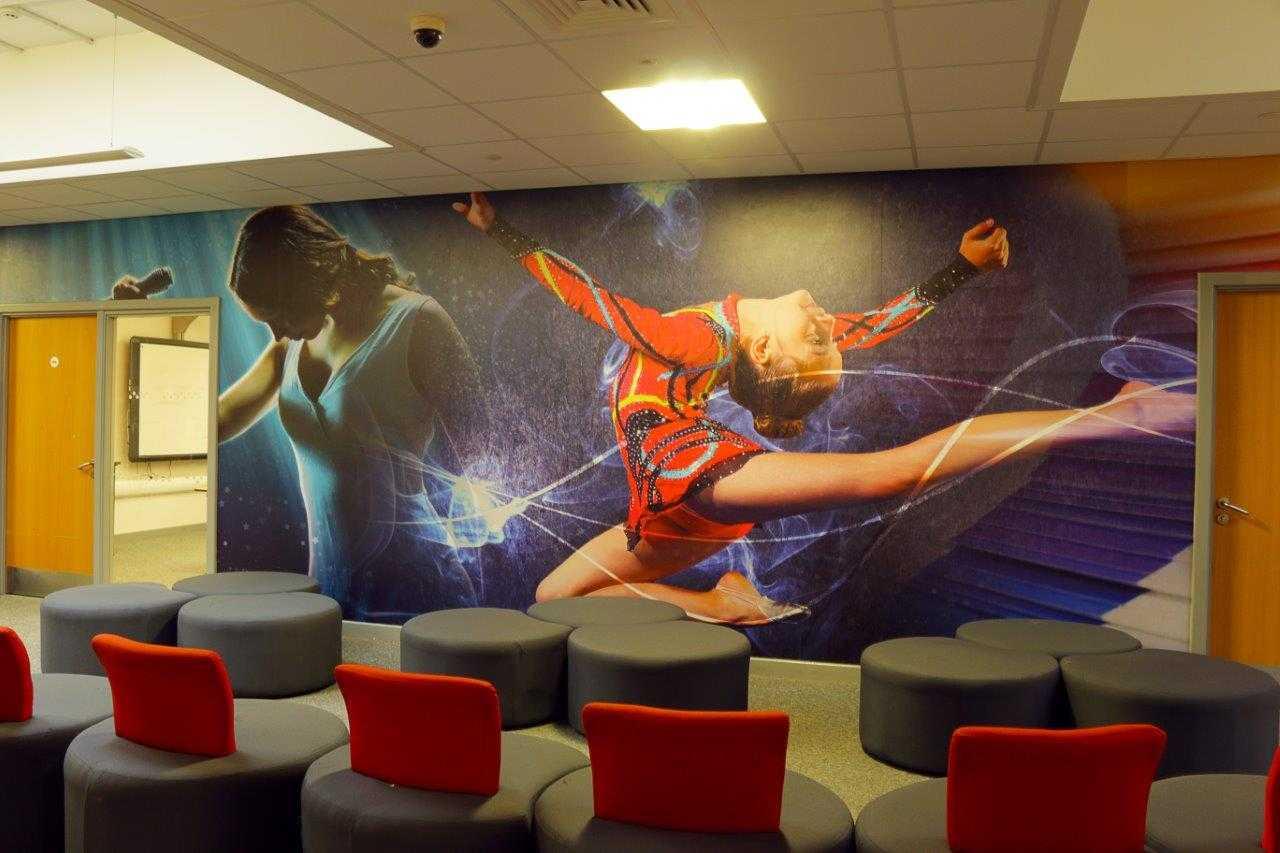 Reception wall wrap