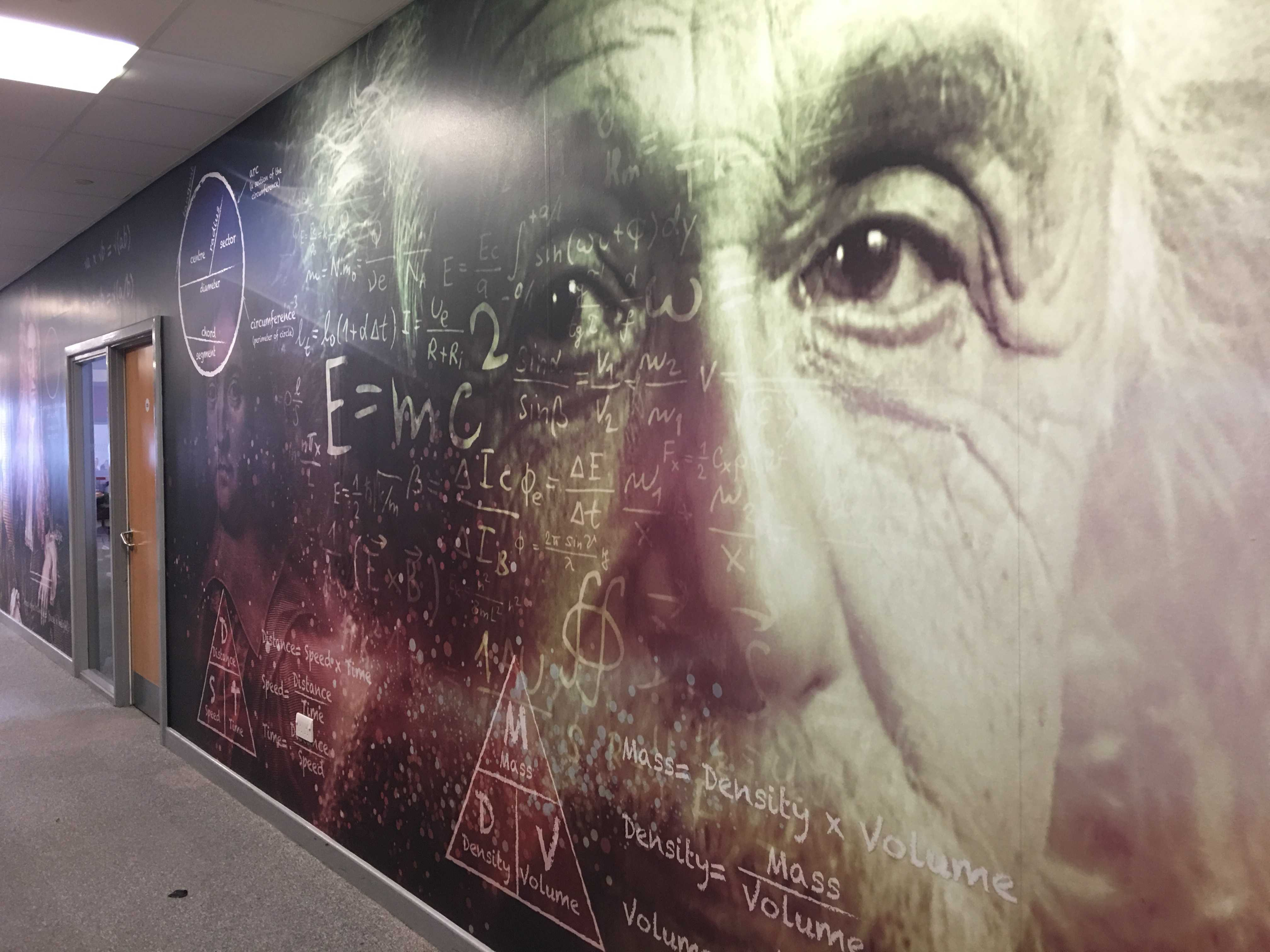 Classroom wall wrap