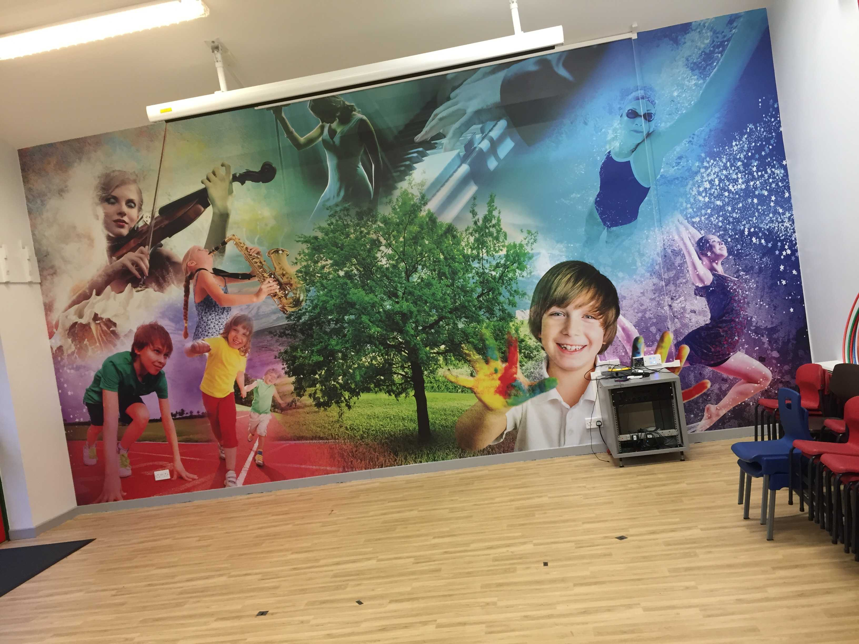 Sports hall wall wrap