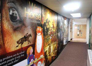 School corridor wall art